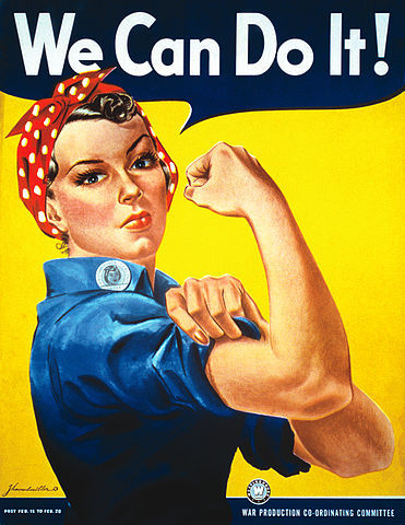 Rosie the Riveter - an image created to encourage women into work during the war | Into Vintage (21635)